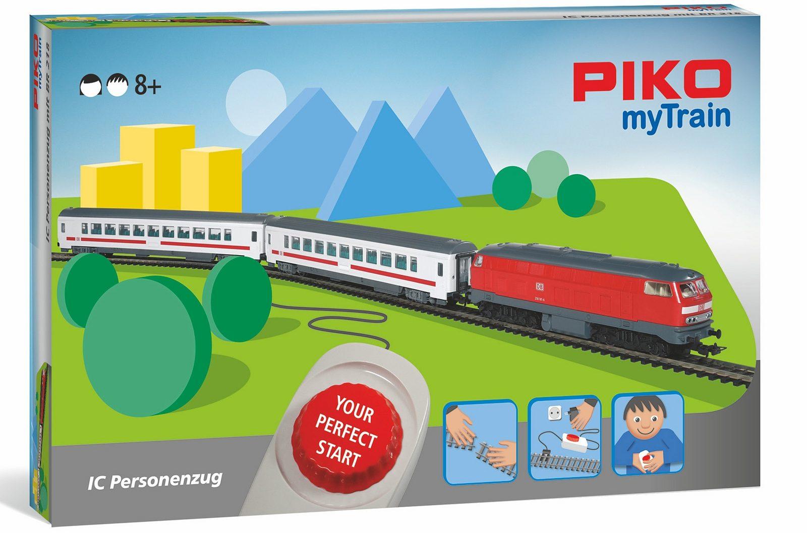 PIKO Modelleisenbahn Startset, »PIKO myTrain, IC-Zug, DB AG - Gleichstrom« Spur H0 - broschei