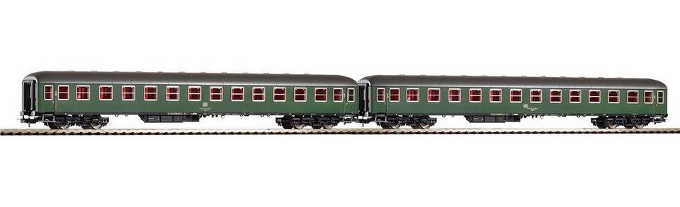 PIKO Personenwagen-Set, »2er-Set Schnellzugwagen 2. Klasse Büm, DB - Gleichstrom« Spur H0 in grün