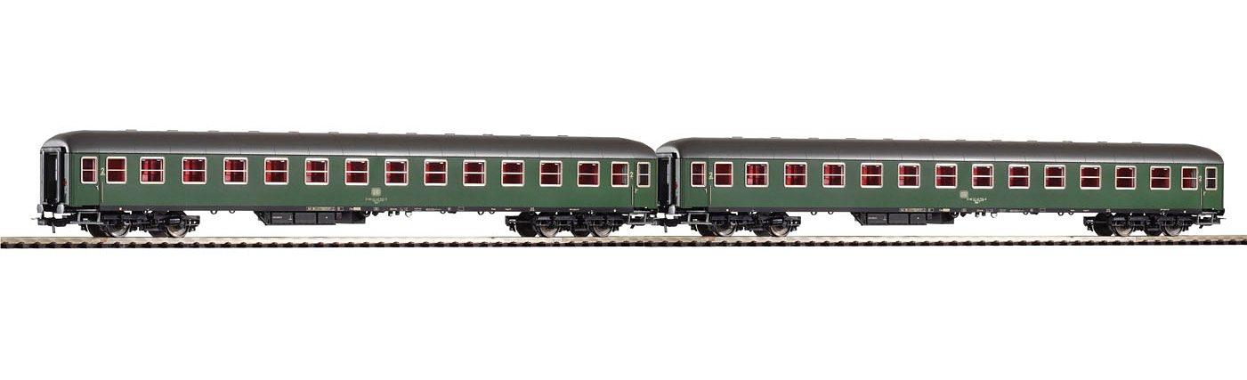PIKO Personenwagen-Set, »2er-Set Schnellzugwagen 2. Klasse Büm, DB - Gleichstrom« Spur H0