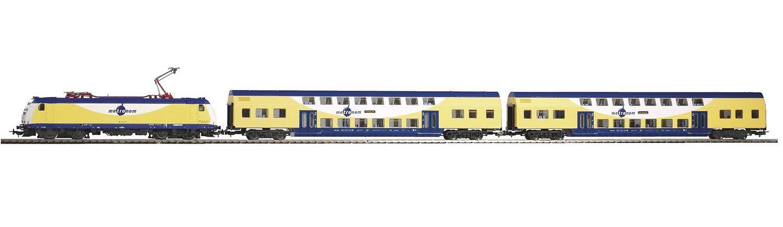 PIKO Modellbahn Startpaket, »Start-Set Metronom BR 185 + 2 Wagen - Gleichstrom« Spur H0