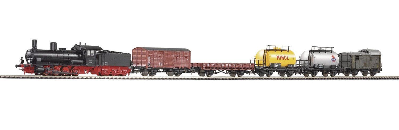 PIKO Modelleisenbahn Startpaket, »Start-Set Dampflok G7 mit 5 Güterwagen - Gleichstrom« Spur H0 - broschei