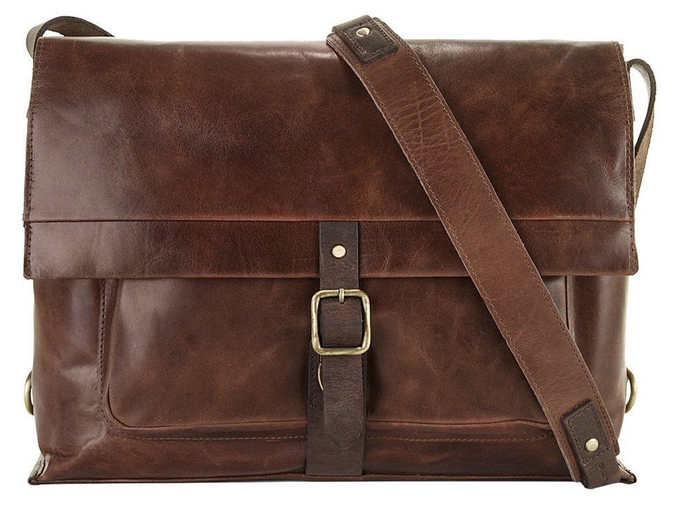 Harold's Leder Messenger Tasche »Stag« in braun