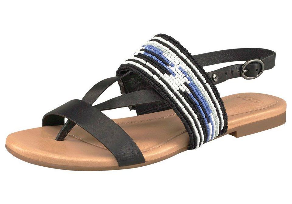 UGG Sandale »Verona Serape Beads« in schwarz