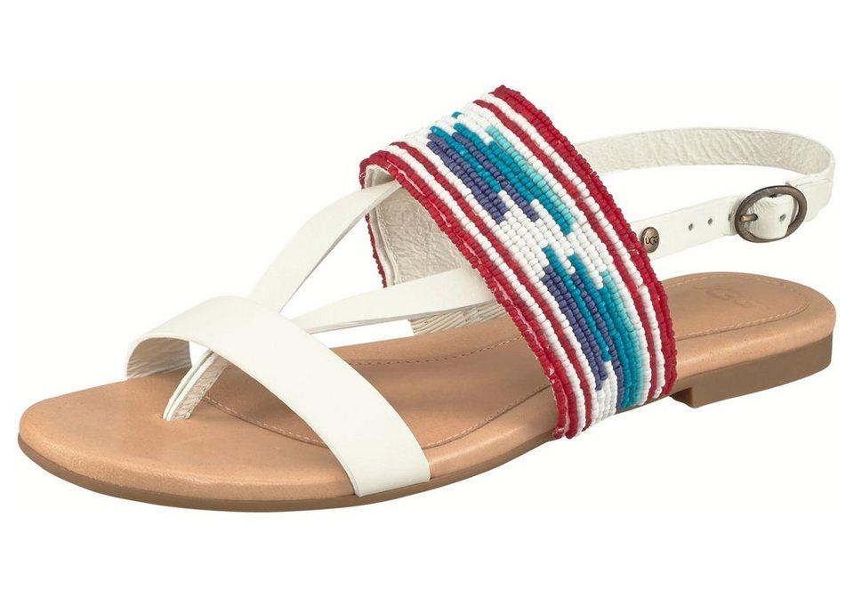 UGG »Verona Serape Beads« Sandale in weiß