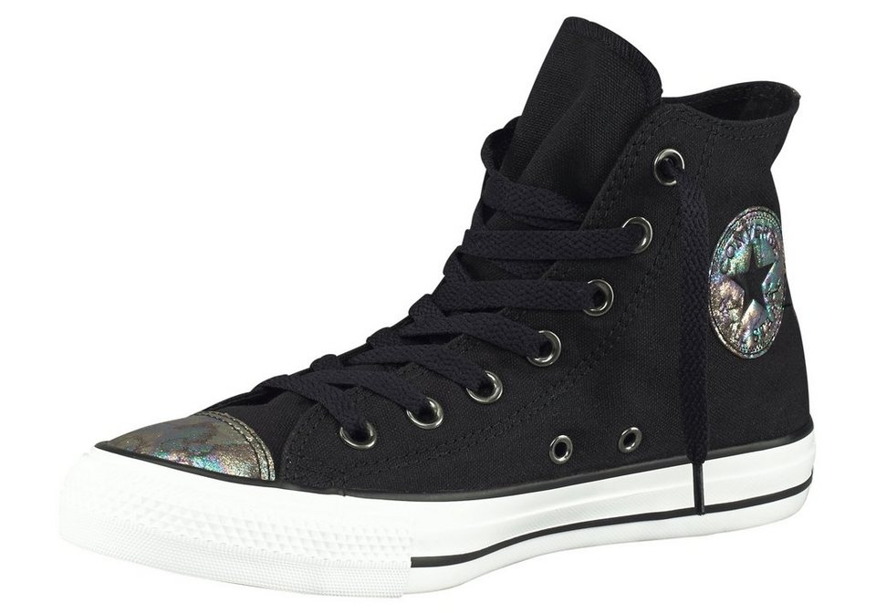 Converse CTAS Canvas Oil Slick Sneaker in Schwarz