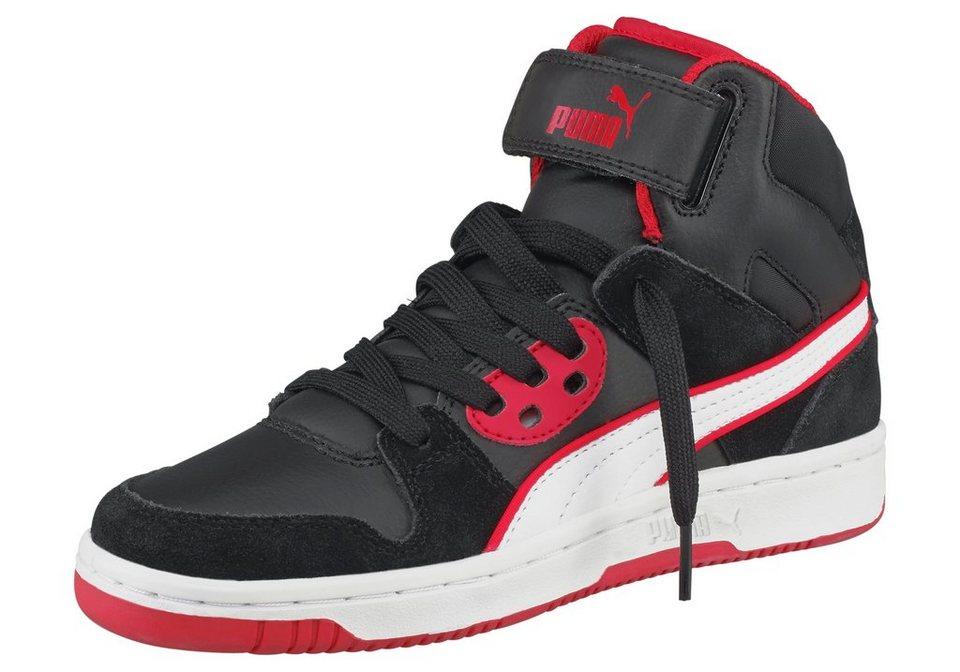 PUMA Rebound Street SD Jr Sneaker in Schwarz-Weiß