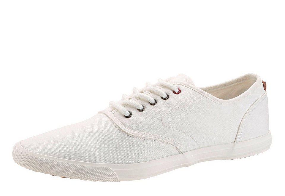 Petrolio Sneaker aus Canvas in weiß