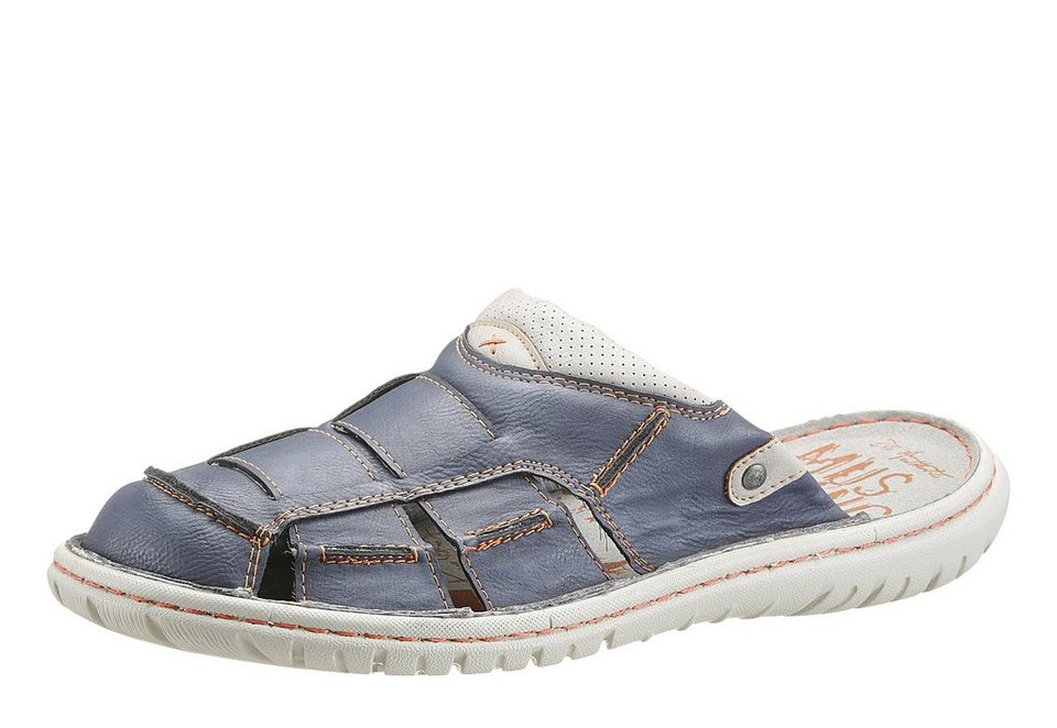 Mustang Shoes Clog mit Perforierung in dunkelblau