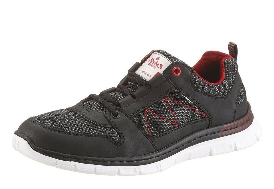 RIEKER Sneaker im Materialmix in schwarz
