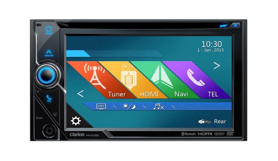 Clarion 2-DIN Steuergerät Navigation »NX405E« in schwarz