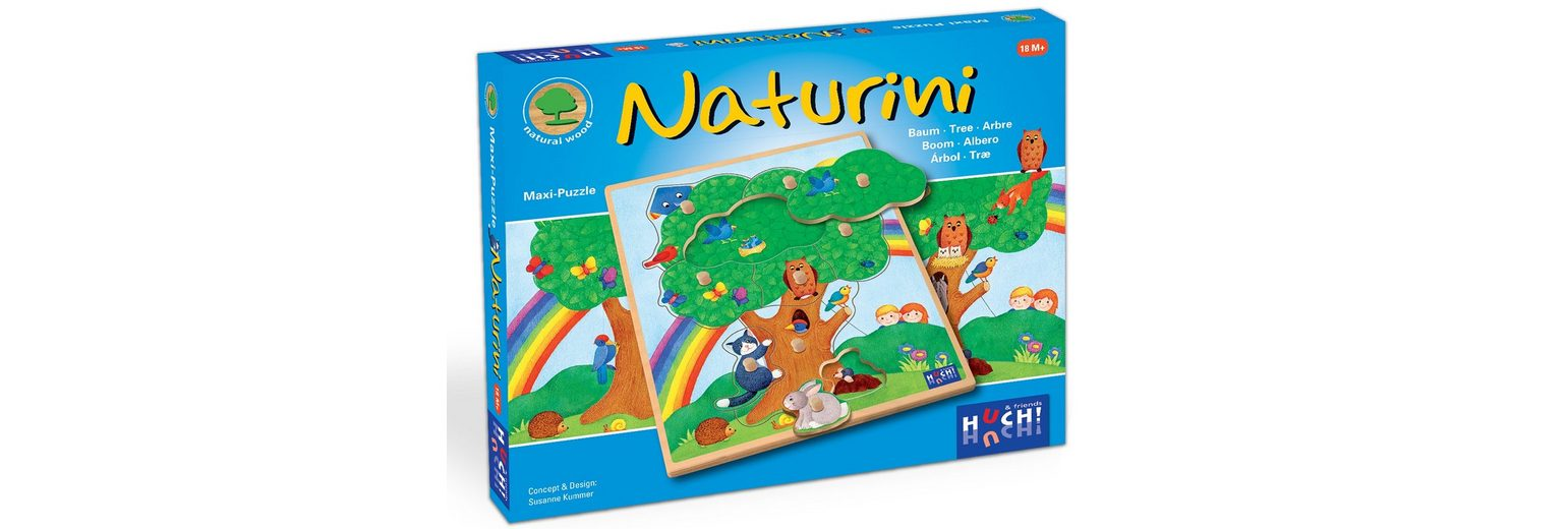 Huch! & friends Puzzle, 9 Maxi-Teile, »Wooden Line Naturini«