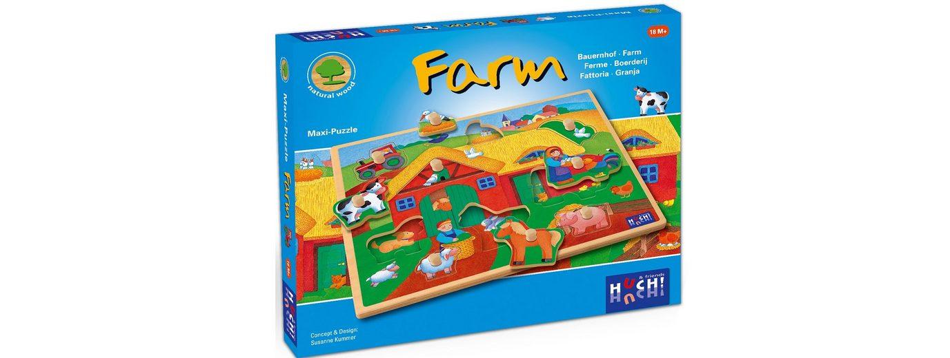 Huch! & friends Puzzle, 9 Maxi-Teile, »Wooden Line Farm«