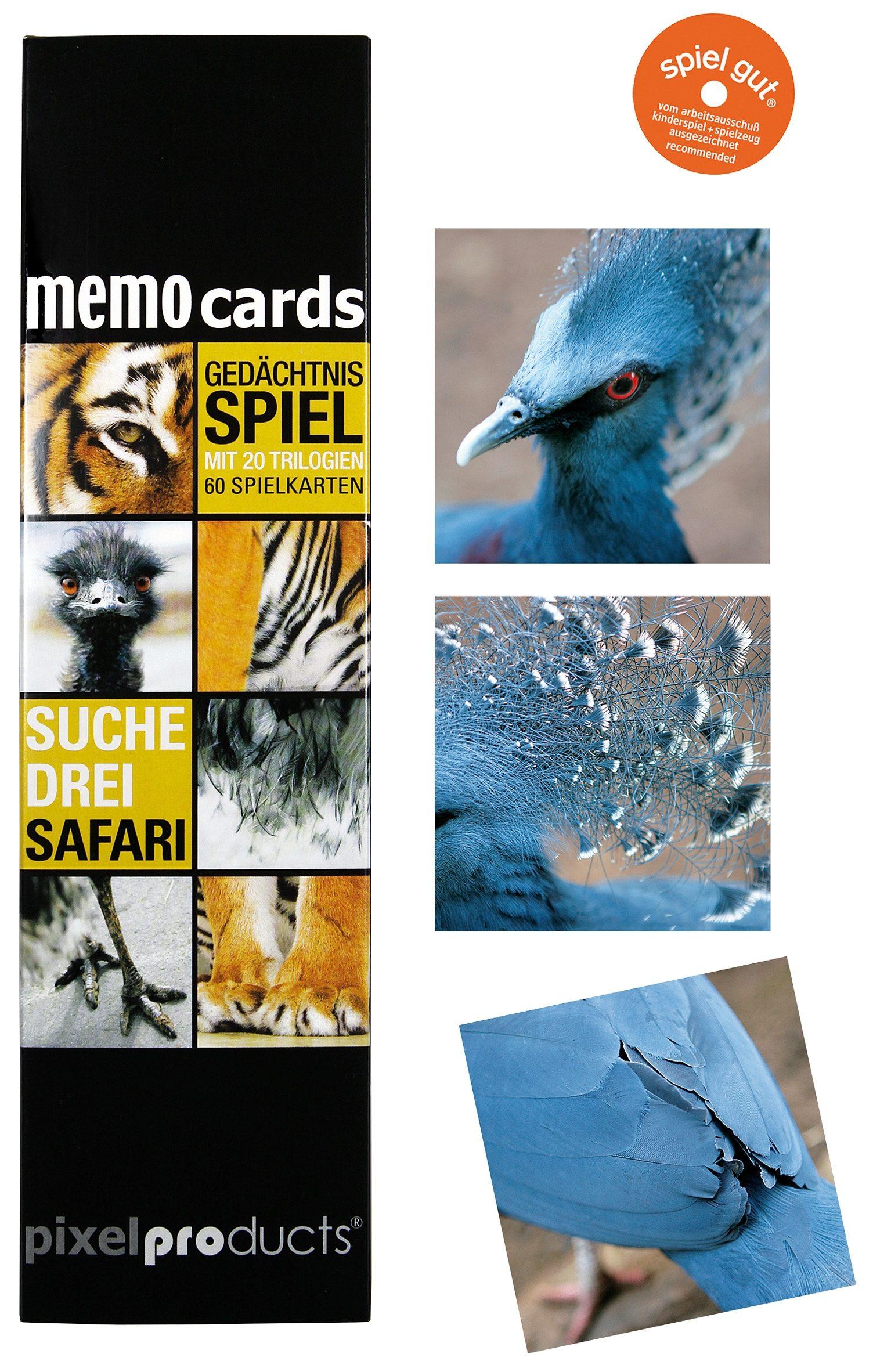 Memospiel, »Pixelproducts, Suche Drei Safari«