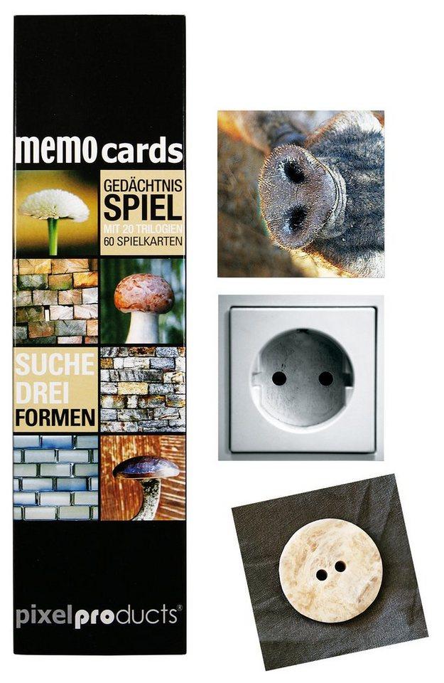Memospiel, »Pixelproducts, Suche Drei Formen«