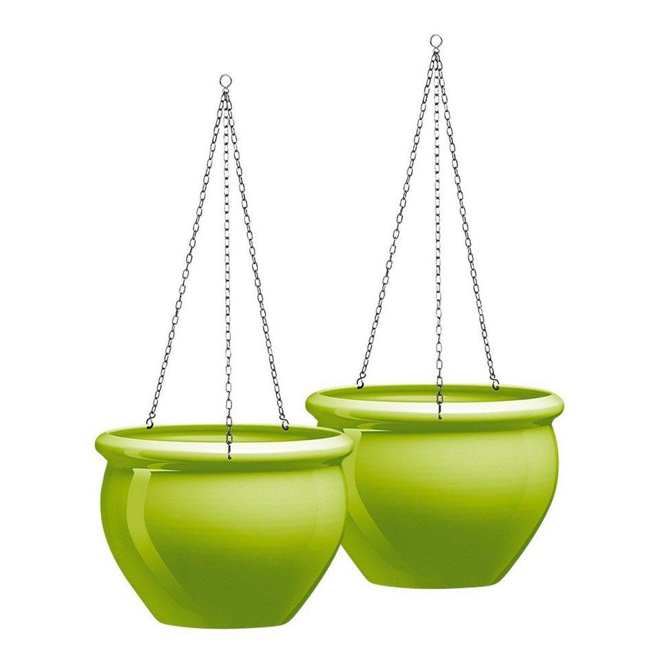 Hängeschale »Siena Nobile«, grün (2 Stk.) in grün