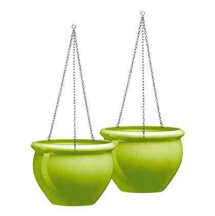Emsa Hängeschale »Siena Nobile«, grün (2 Stk.)