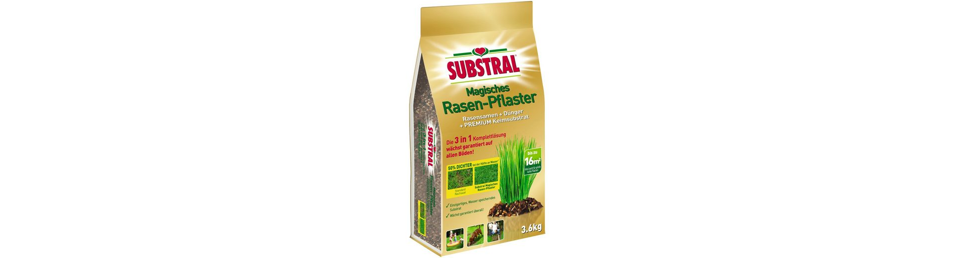 Rasenpflege »Magisches Rasen-Pflaster«