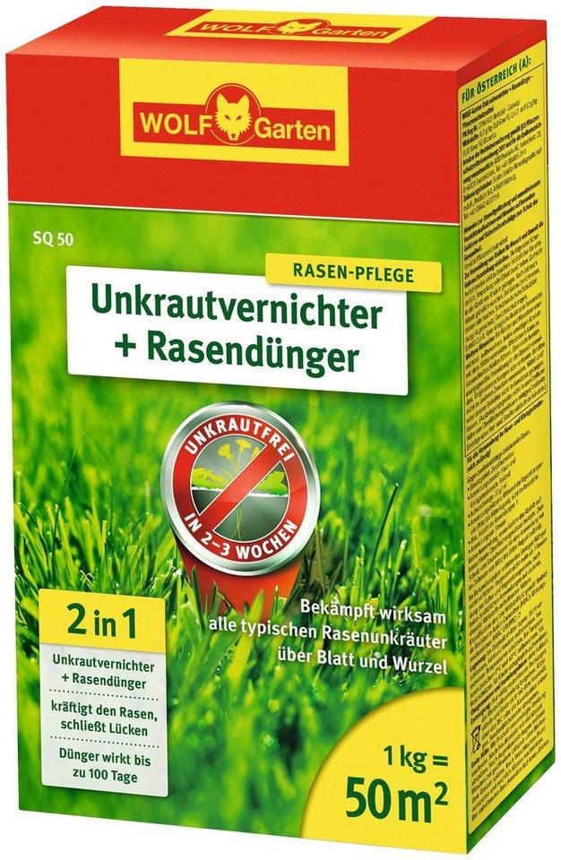 Unkrautvernichter + Rasendünger »SQ«, in 4 Verpackungsgrößen in weiß