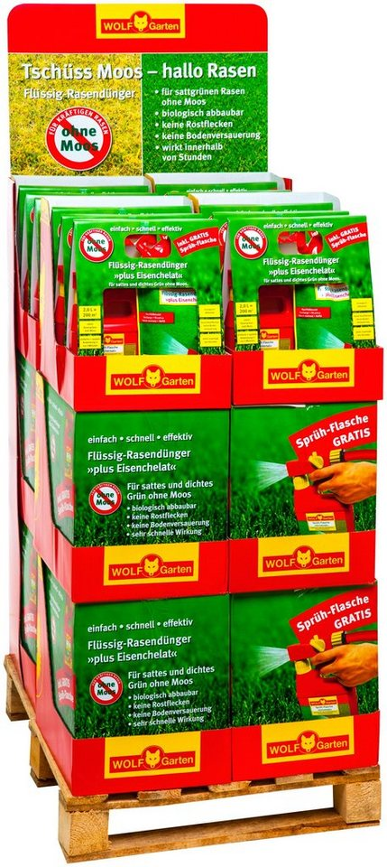 Flüssig-Rasendünger plus Eisenchelat in grün