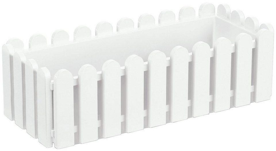 Blumenkasten »LANDHAUS«, weiß (BxT: 50x20 cm) in weiß