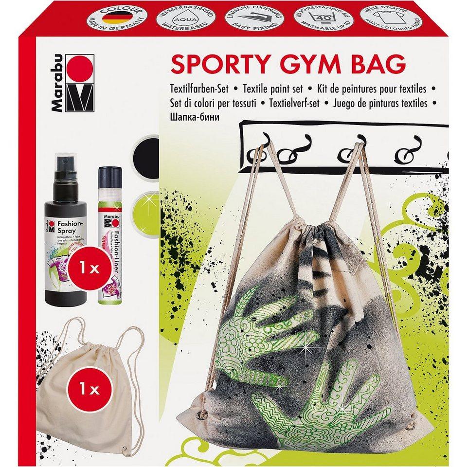Marabu Fashion-Spray Textilgestaltungsset Sporttasche