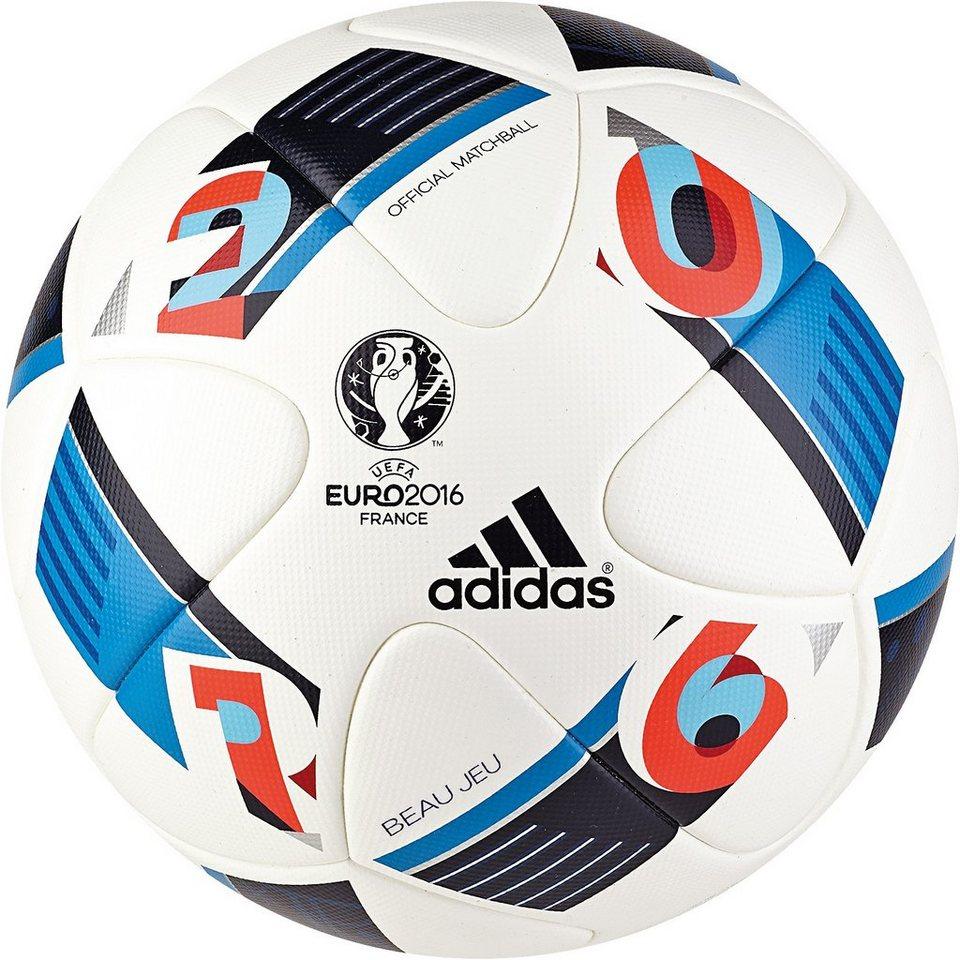 adidas Performance Euro 2016 Beau Jeu Offizieller Matchball in weiß / blau / rot