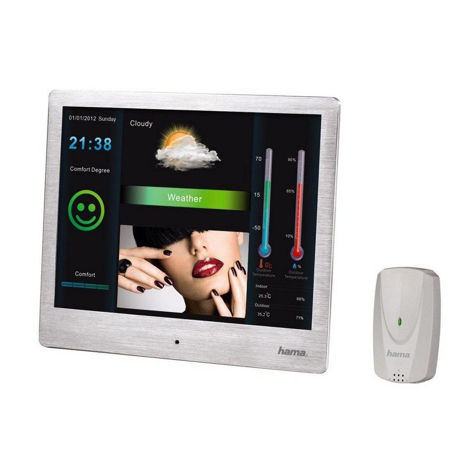 Hama Digitaler Bilderrahmen, Wetterstation 26,64 cm (9,7 Zoll) »USB SD SDHC MMC Fernbedienung« in Silber