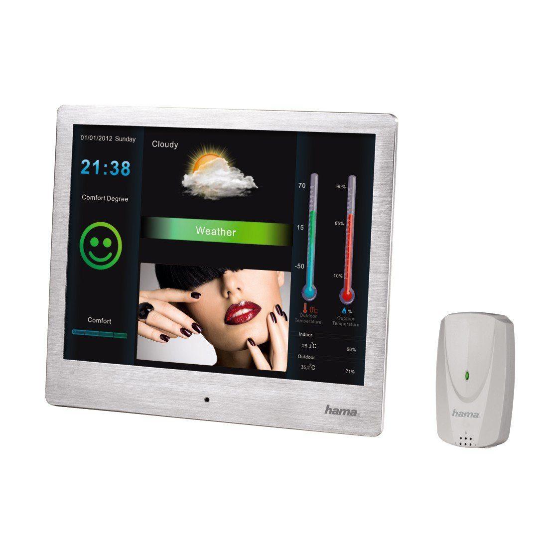 Hama Digitaler Bilderrahmen, Wetterstation 26,64 cm (9,7 Zoll) »USB SD SDHC MMC Fernbedienung«