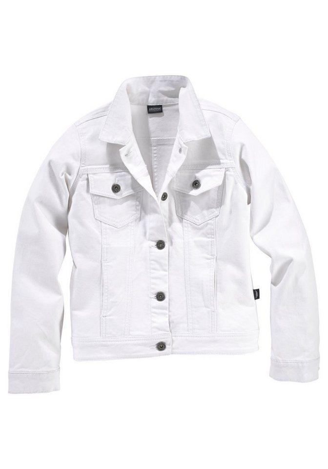 Arizona Jeansjacke in weiß