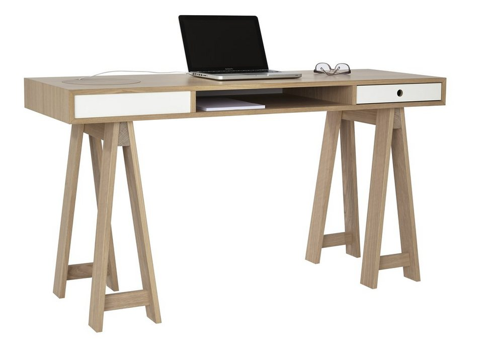 andas Schreibtisch »Loft«, Nordic Design in white oak in white oak