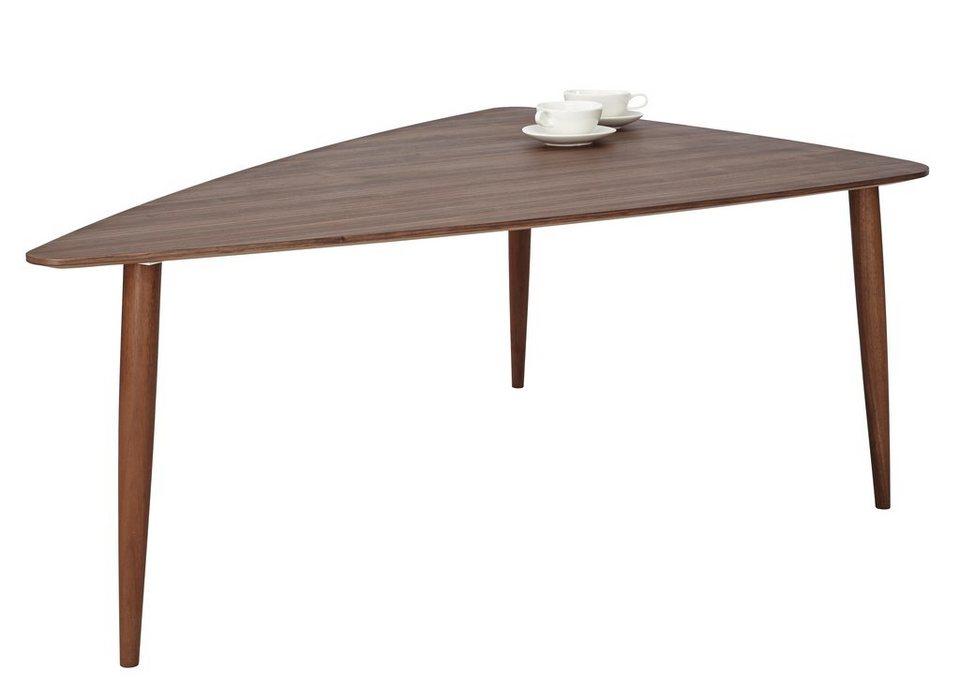 andas Couchtisch »Mainsail«, walnut massiv in skandinavischem Design in walnut Furnier