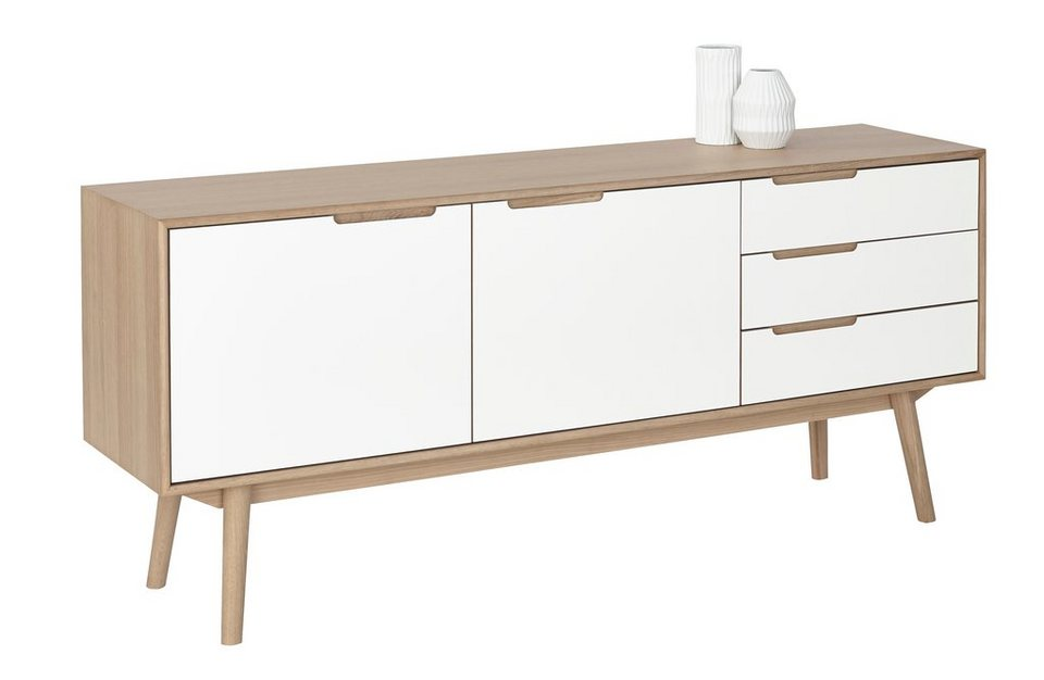 andas sideboard curve white oak im nordischen design. Black Bedroom Furniture Sets. Home Design Ideas
