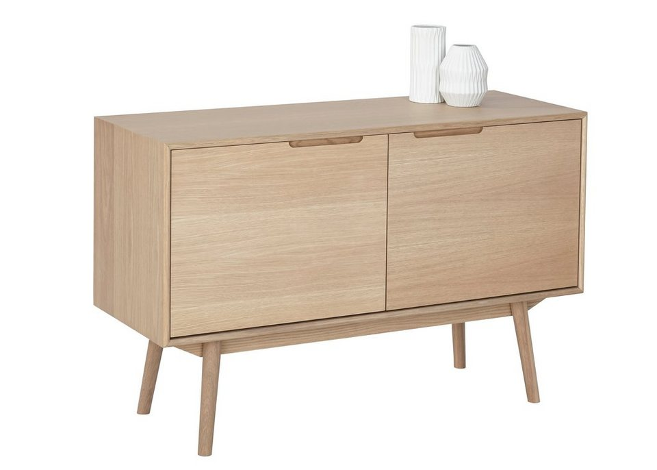 andas Sideboard »Curve«, white oak, im nordischen Design in white oak Furnier