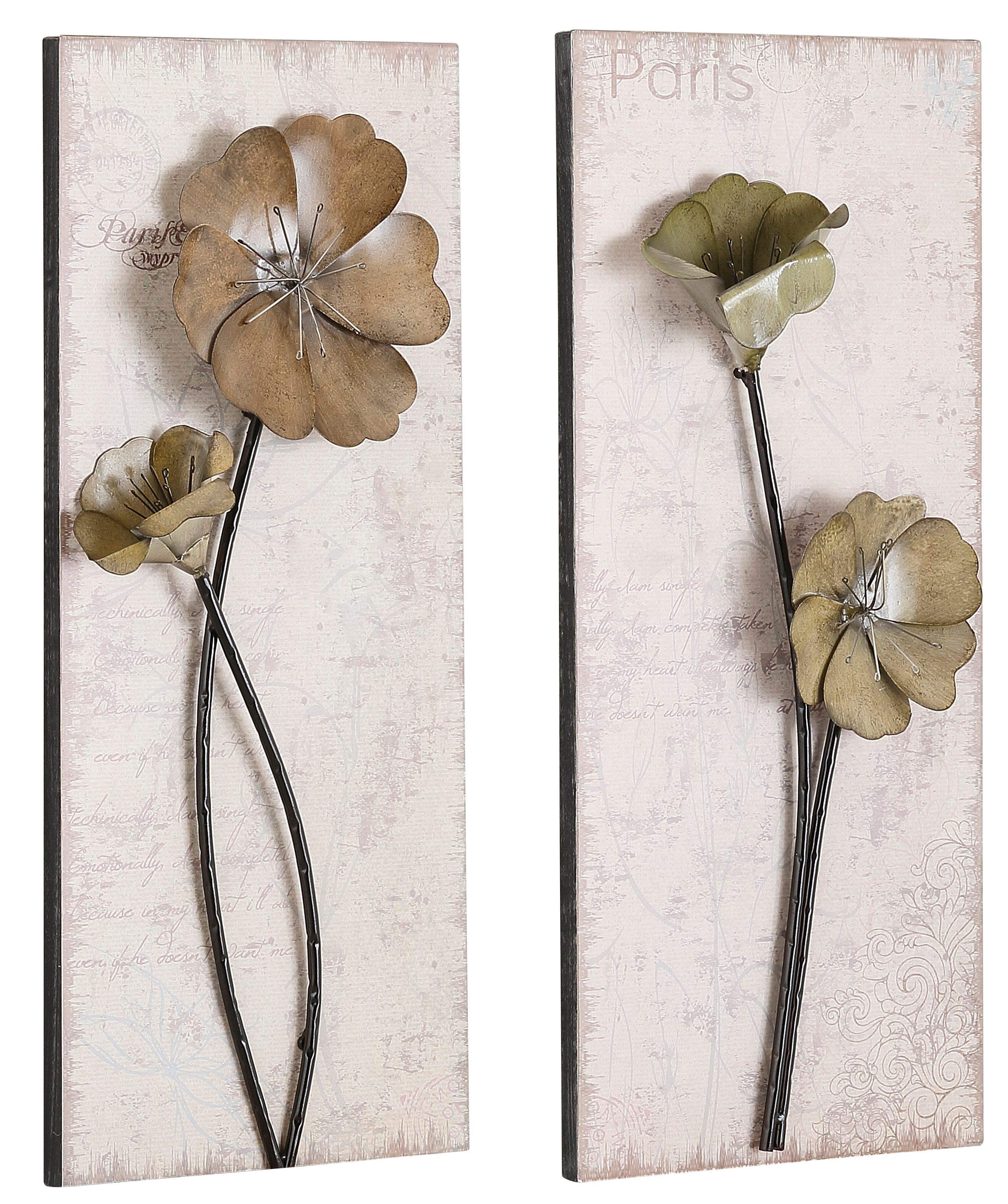 Home affaire SET: Wanddekoration »Used-Look-Optik« (2tlg.), 2x 30/71 cm