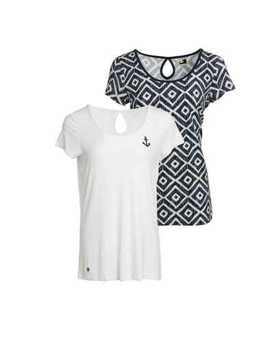Ocean Sportswear T-Shirt »Nachhaltige LENZING™ ECOVERO™ Viskose« (Packung, 2er-Pack)