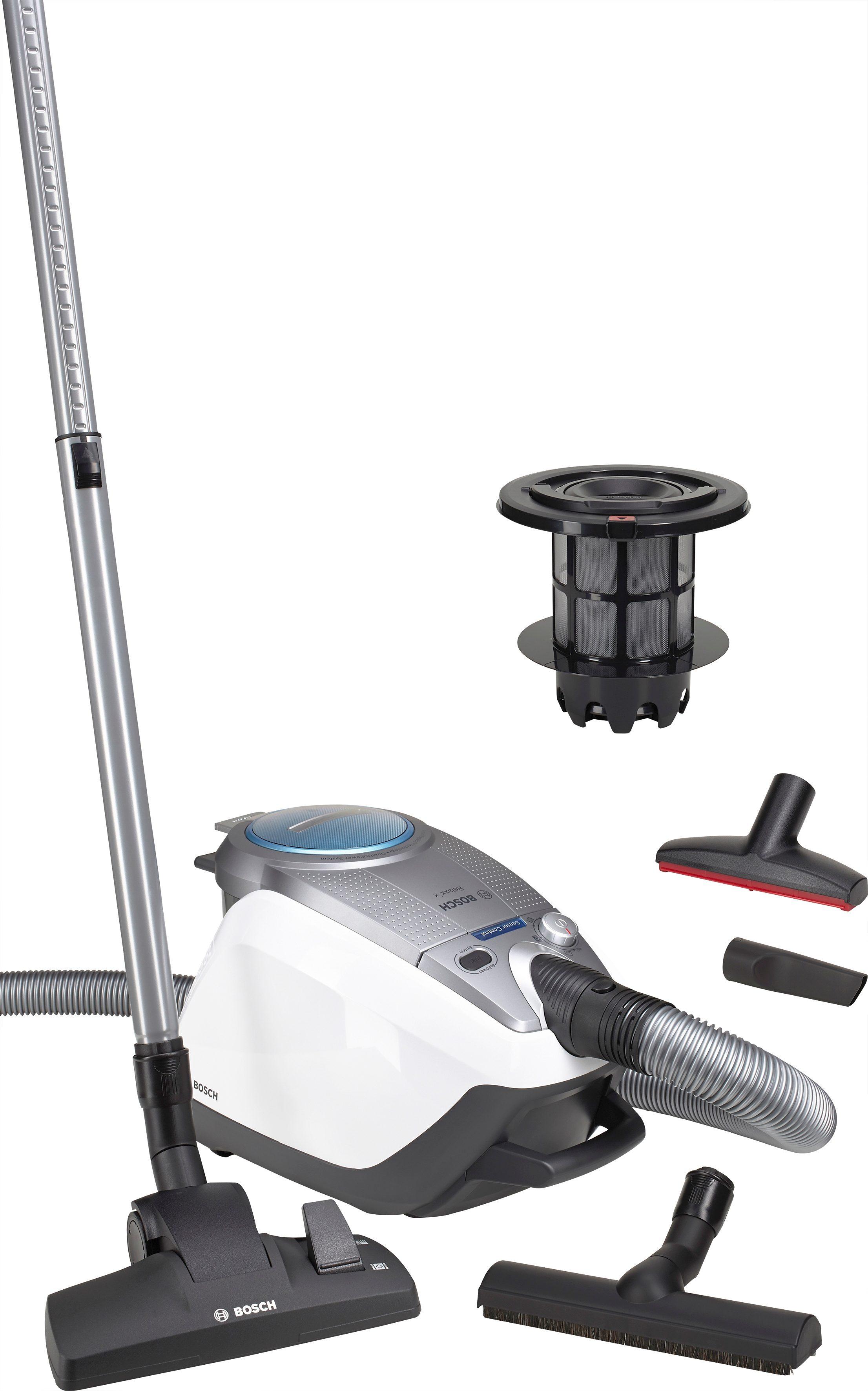 Bosch Bodenstaubsauger Relaxx'x ProSilence Plus BGS5331, beutellos, Energieklasse A, weiß