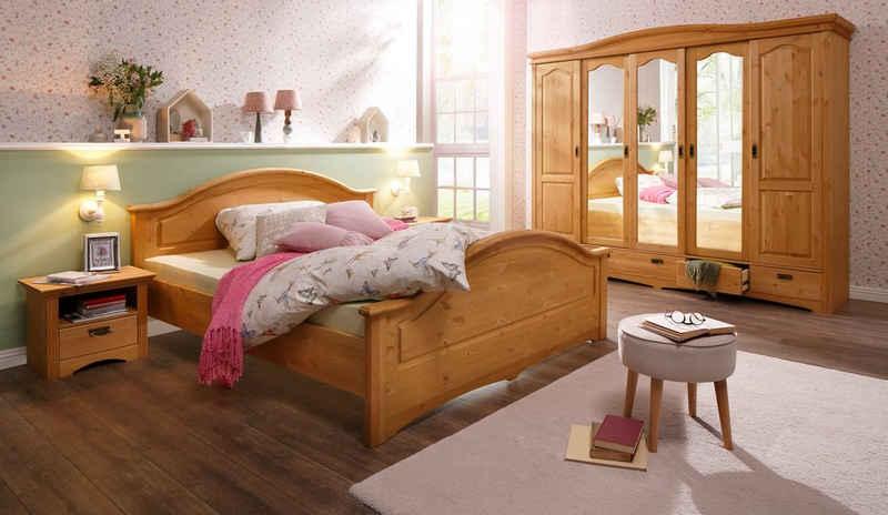 Home affaire Schlafzimmer-Set »Konrad«, (Set, 5-St), mit 5-trg. Kleiderschrank, Bett 180/200 cm und 2 Nachttischen