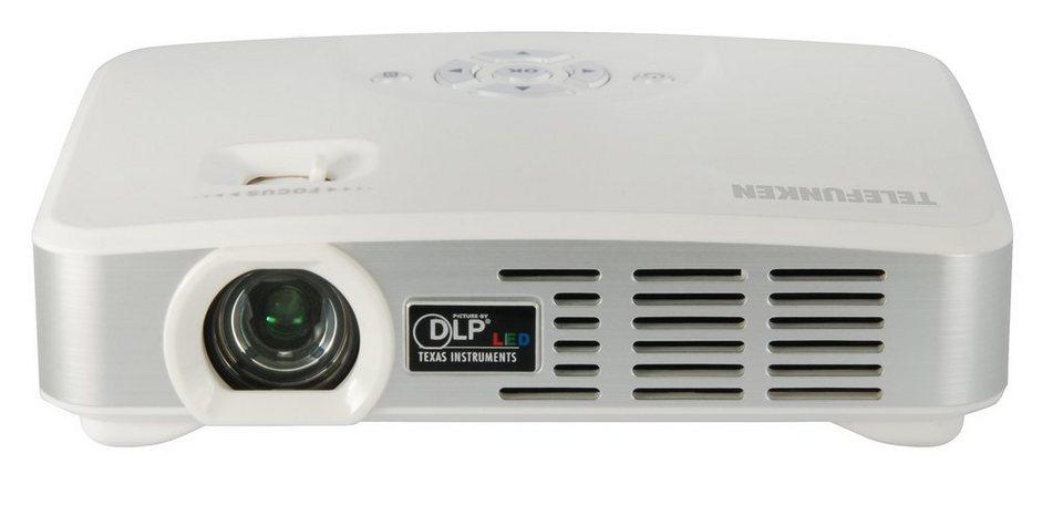 Telefunken Mini-LED-Projektor »DLP500 WIFI« in weiss