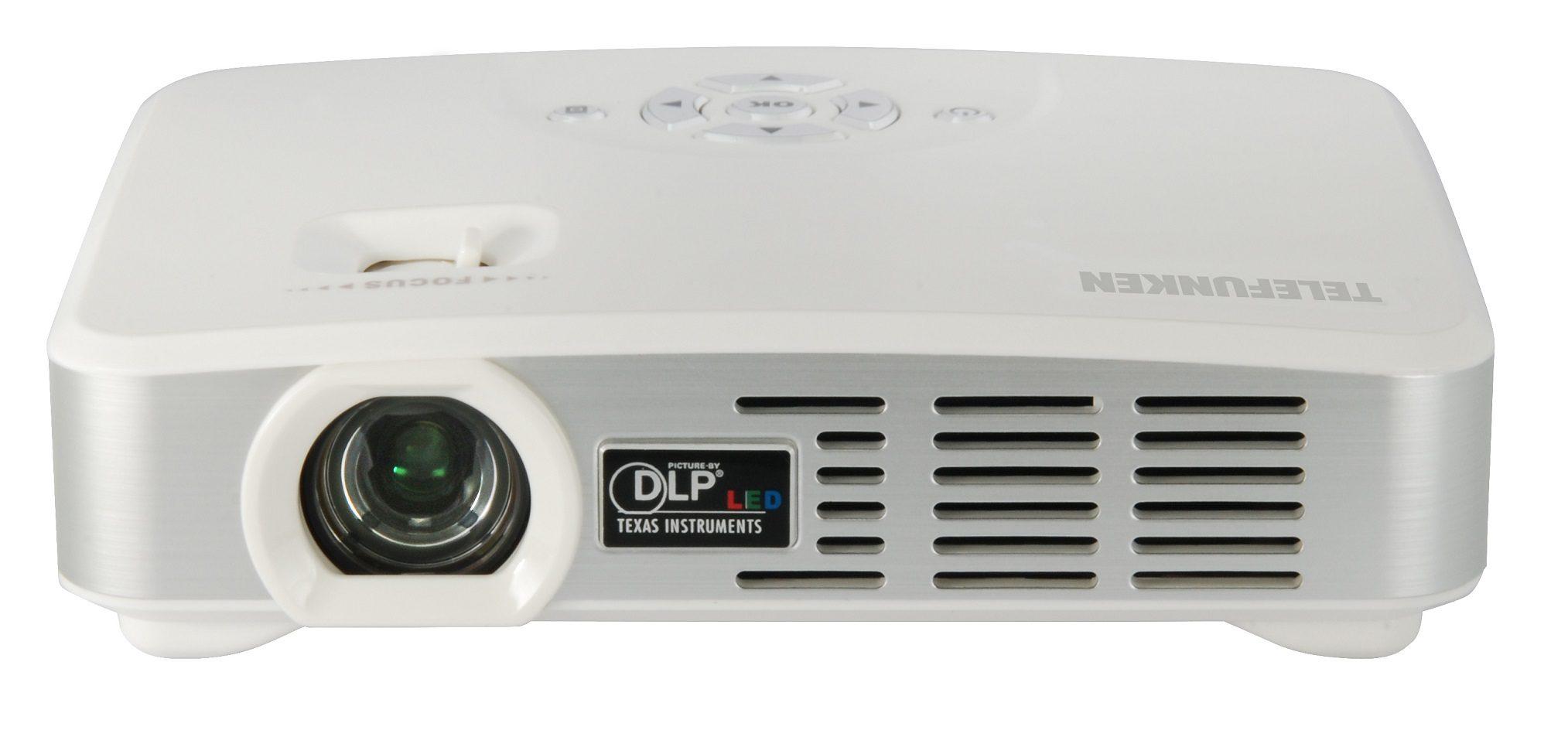 Telefunken Tragbarer Multimedia WiFi Mini LED-DLP Projektor »DLP500 WIFI«