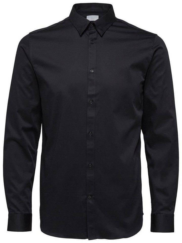Selected Slim-Fit- Hemd in Black