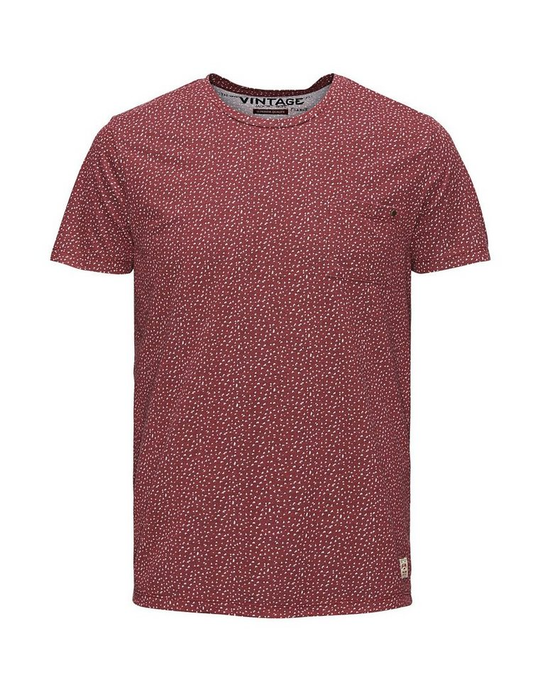 Jack & Jones Micro-Print T-Shirt in Syrah