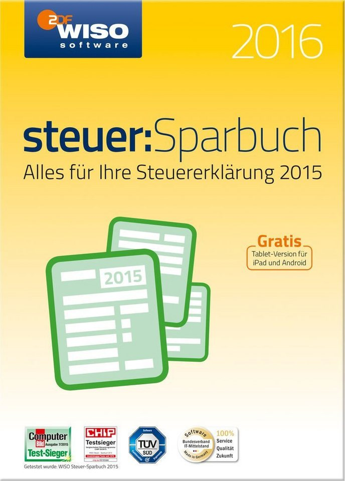 Buhl Data Software »WISO Steuer-Sparbuch 2016«