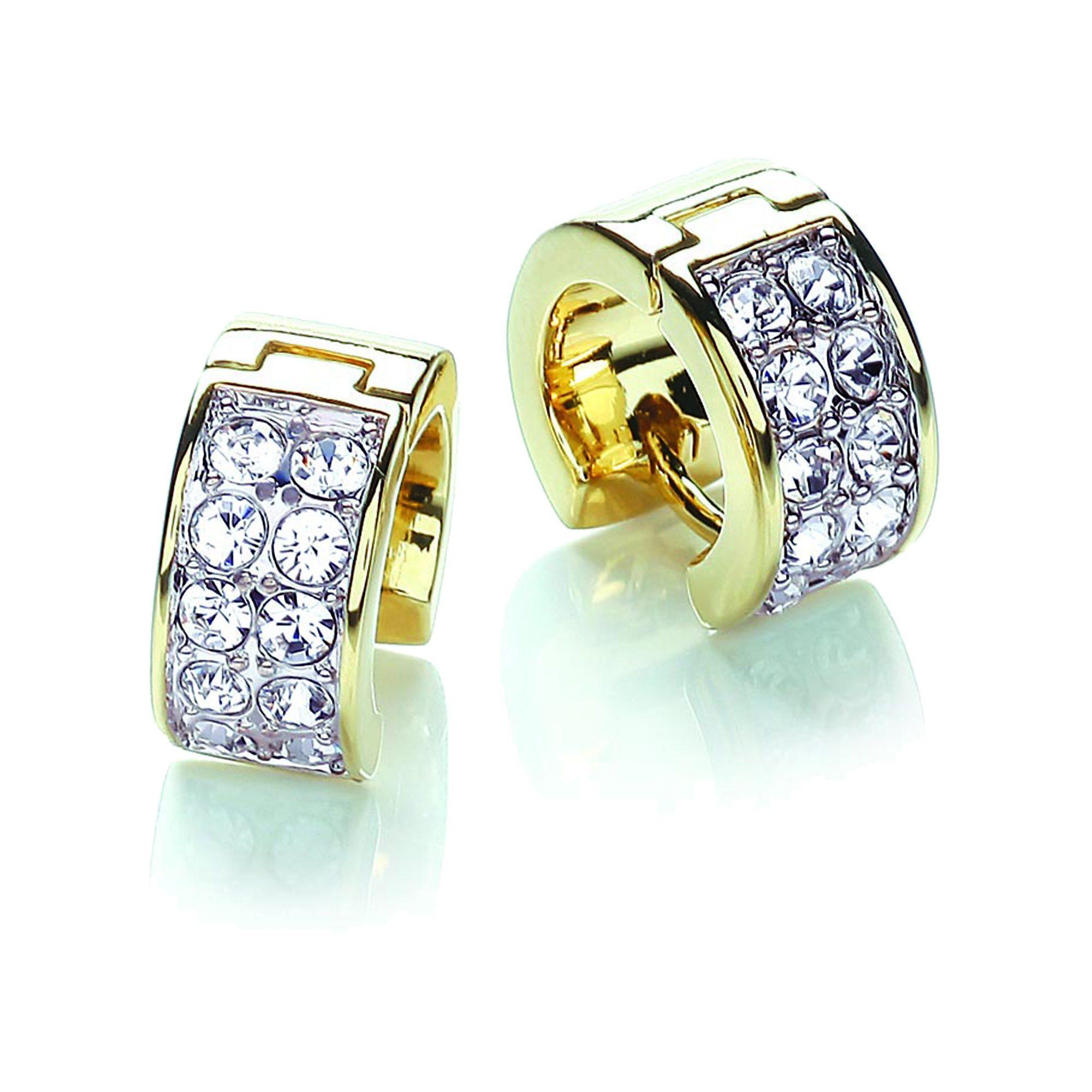 Buckley London Creolen »vergoldet und rhodiniert mit Kristallen«