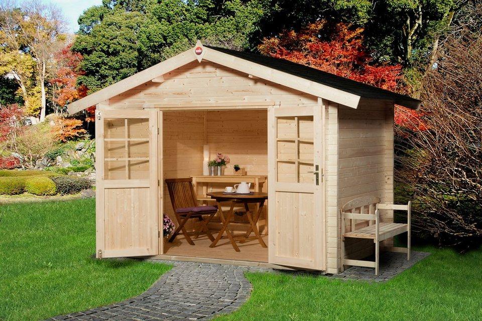 weka gartenhaus gr 3 bxt 300x300 cm inkl fu boden online kaufen otto. Black Bedroom Furniture Sets. Home Design Ideas