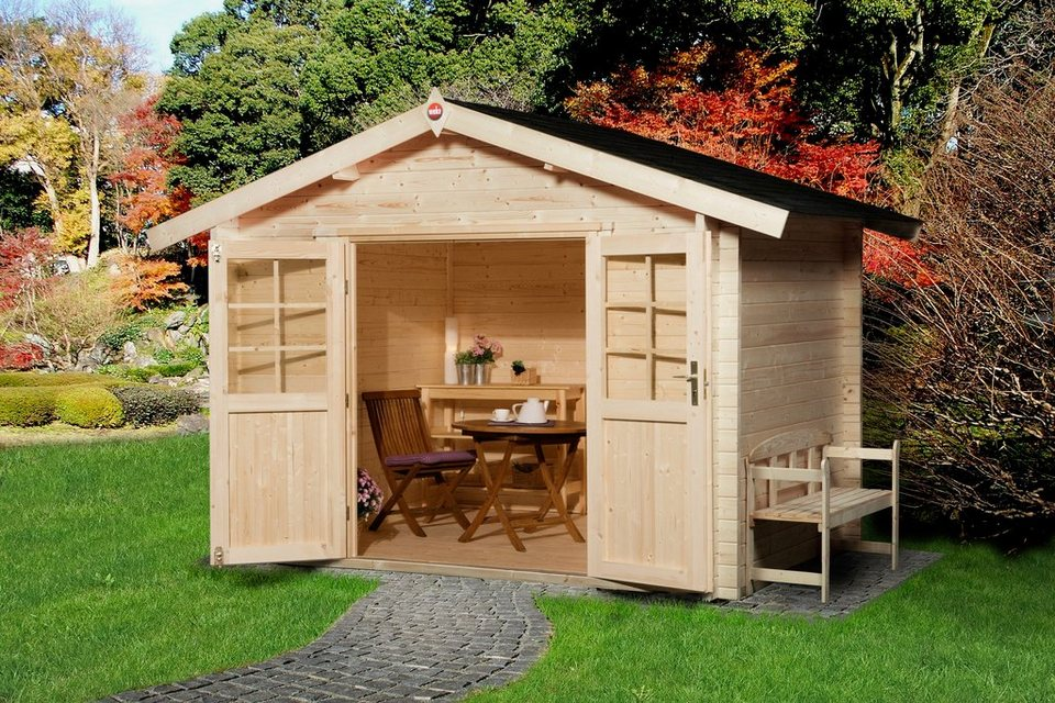 weka gartenhaus gr 3 bxt 300x300 cm inkl fu boden. Black Bedroom Furniture Sets. Home Design Ideas