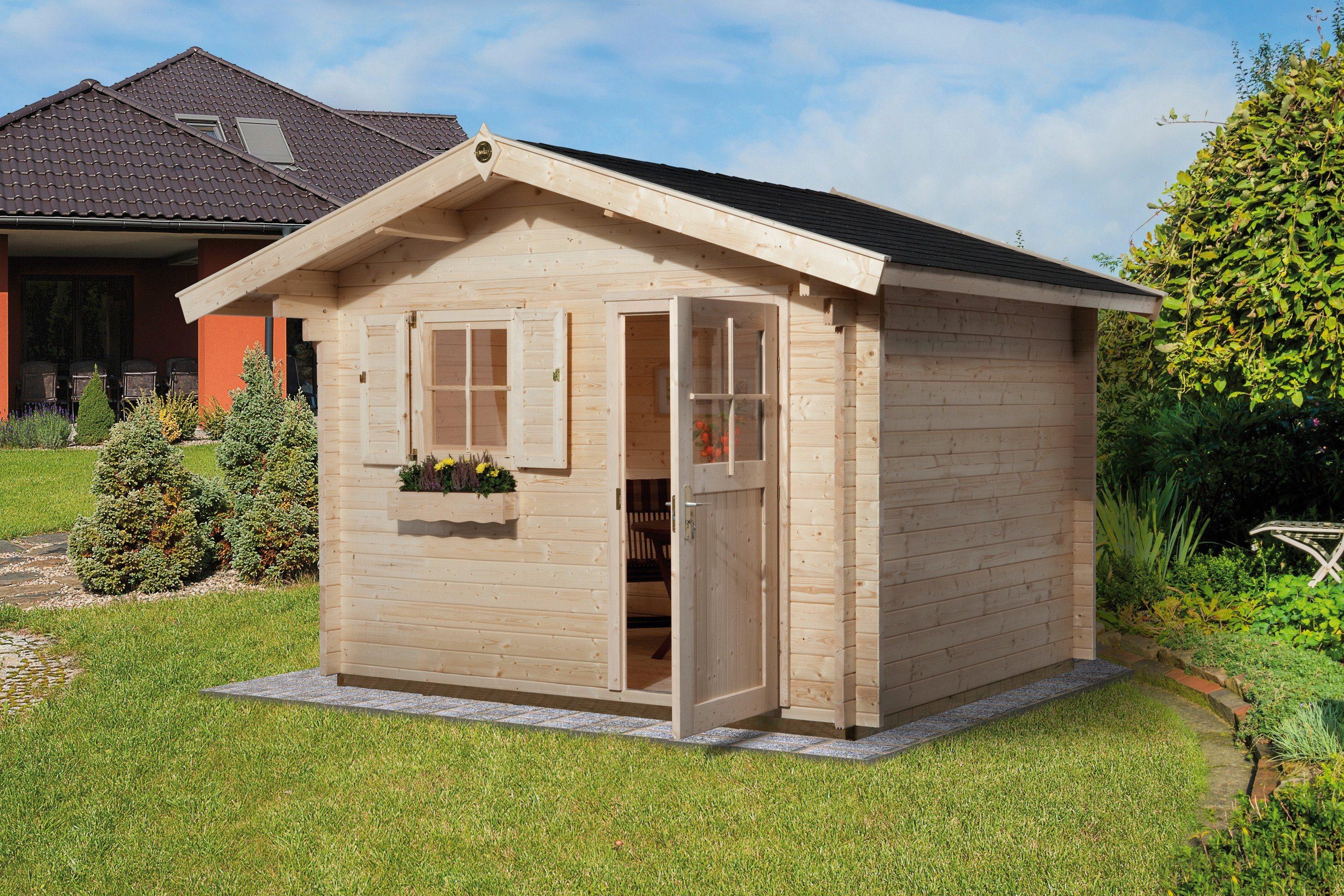WEKA Gartenhaus »Gr.2«, BxT: 300x300 cm, inkl. Fußboden und Fenster | Garten > Gartenhäuser | weka