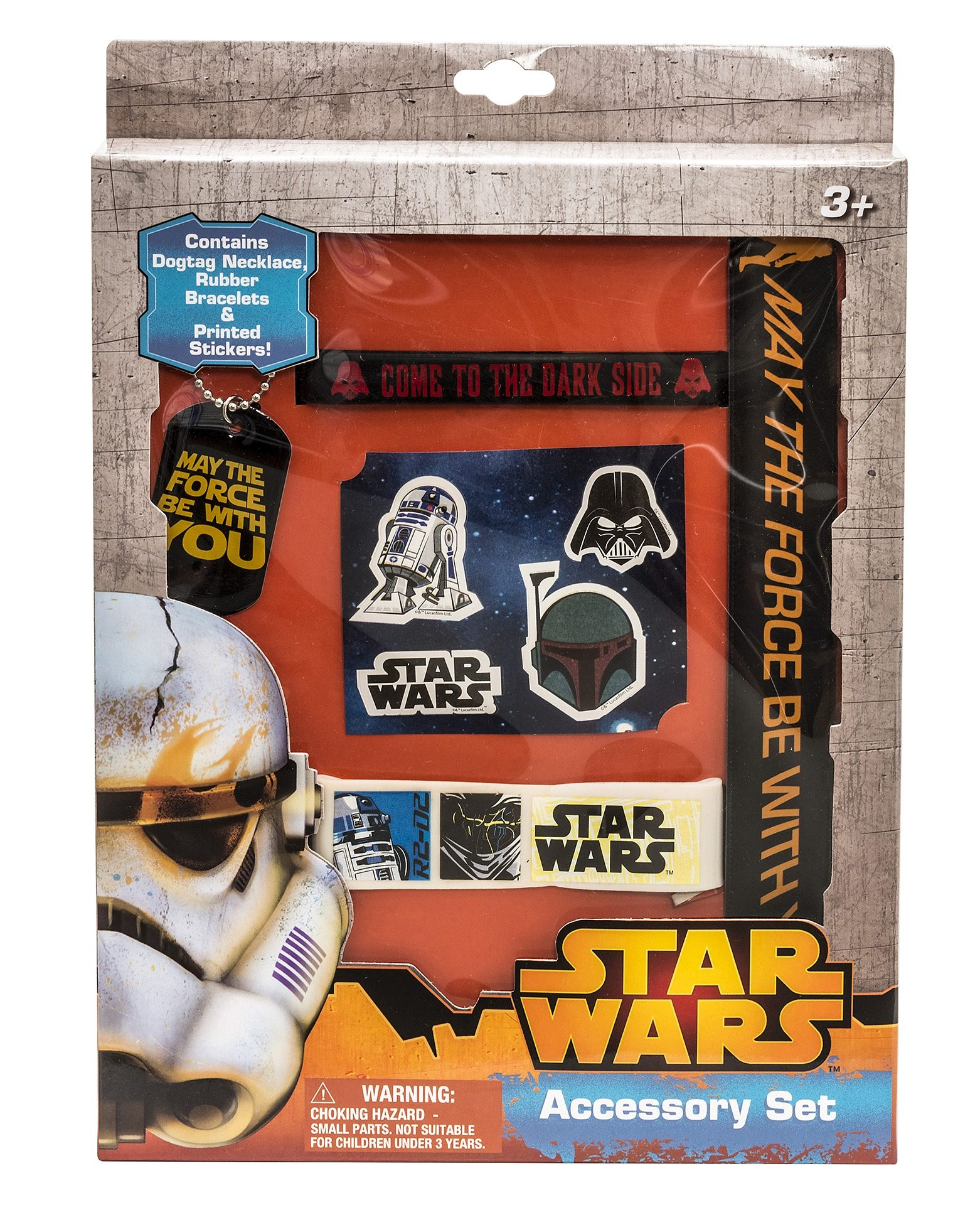 JOY TOY Set: Armbänder, Kette und Sticker, »Star Wars™ Fan Set« (5tlg.)