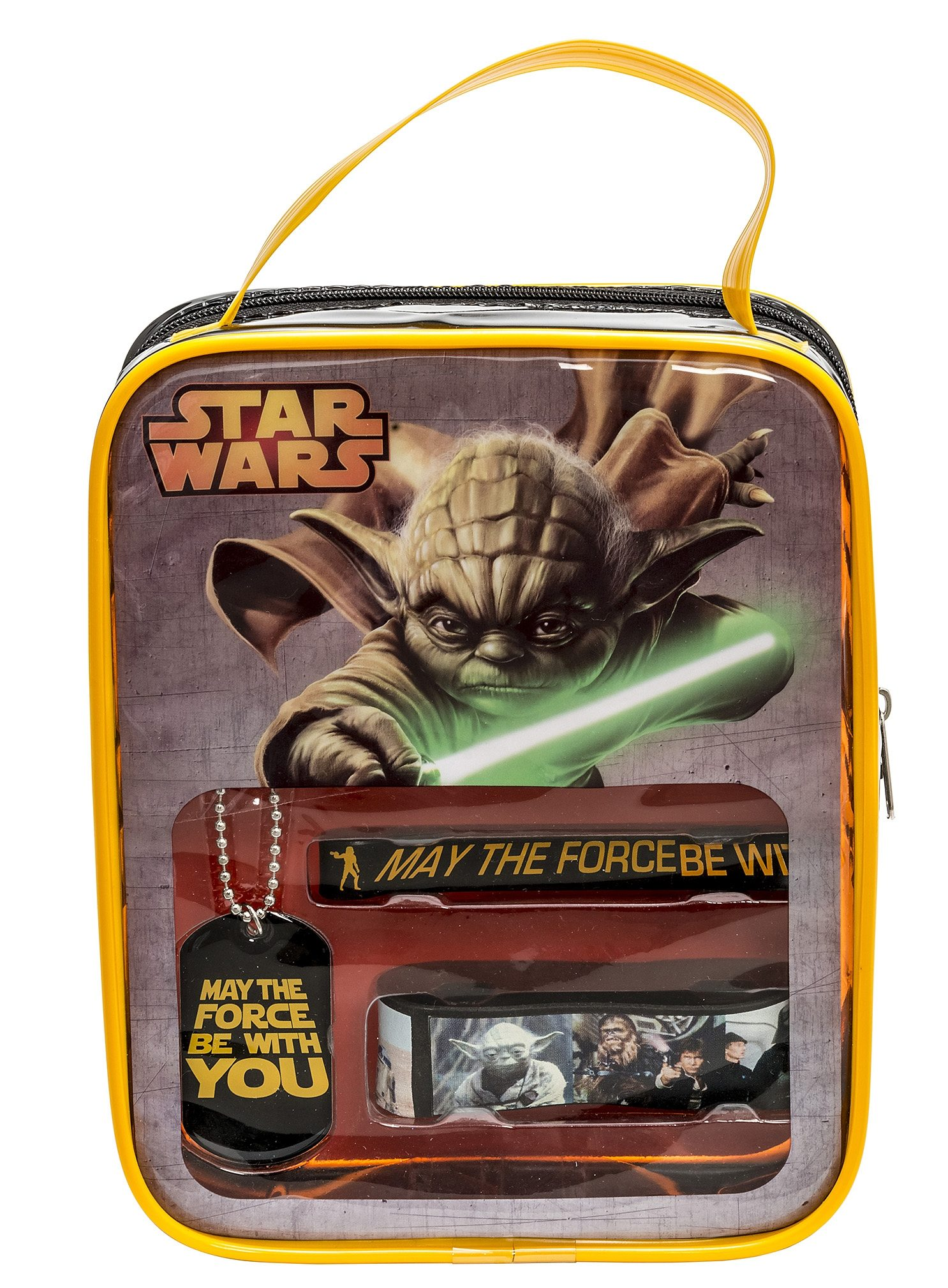 JOY TOY Set: Vinyl-Armbänder und Kette, »Star Wars™ Yoda Fan Set« (4tlg.)