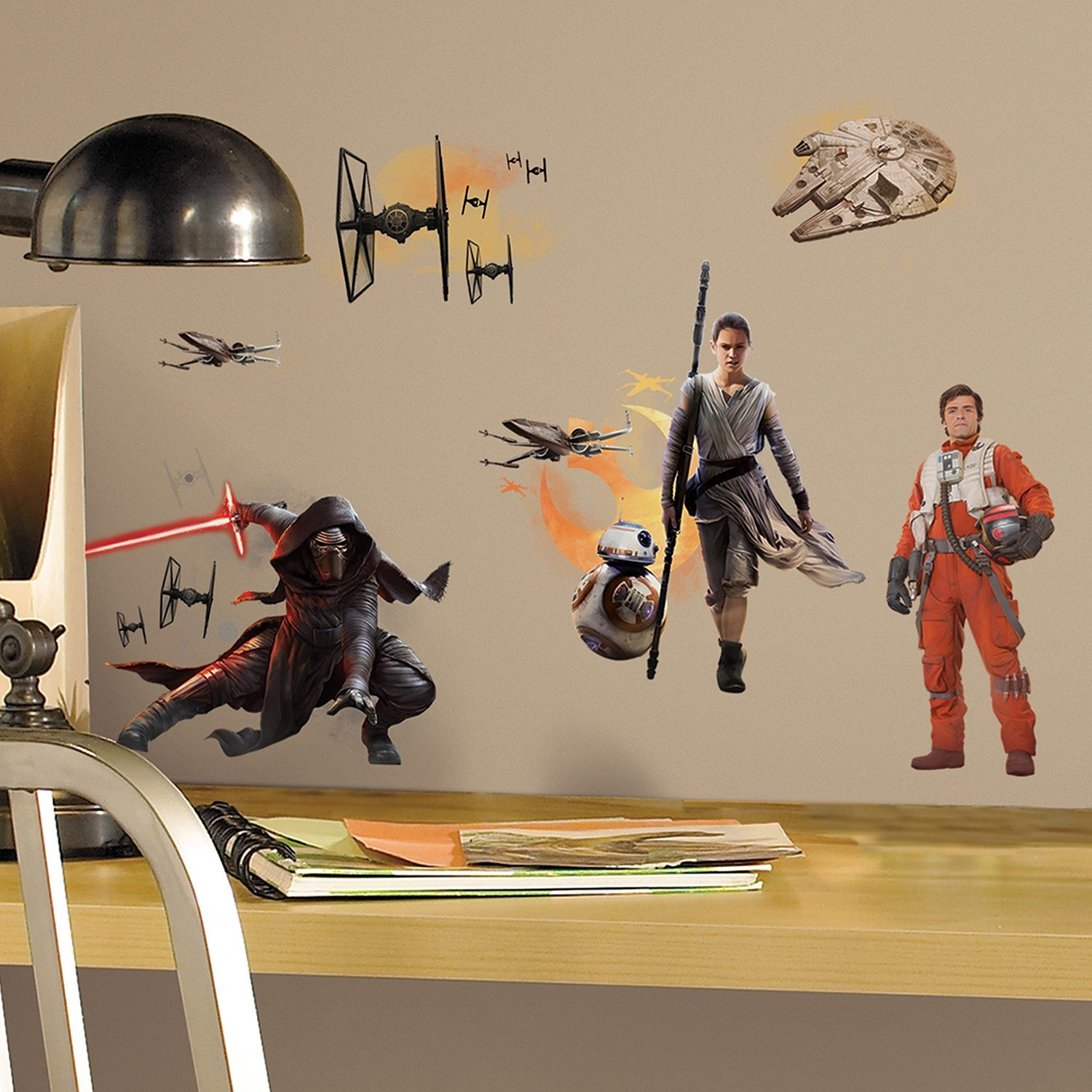 JOY TOY Wandsticker, 4 Blätter, »Disney Star Wars™, Episode VII Wandtattoos«