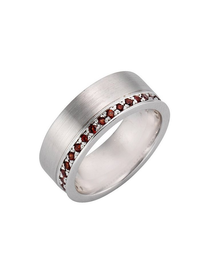 firetti Ring mit Granat in Silber 925/rot